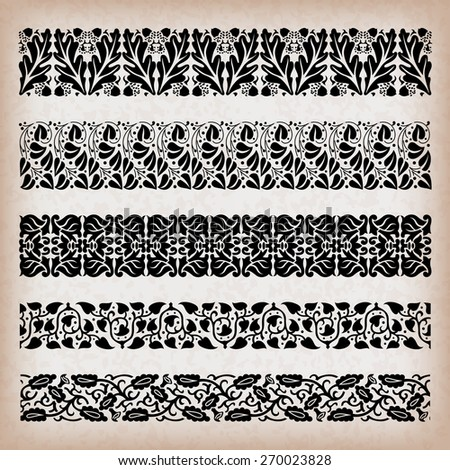 Decorative vintage borders. - stock vector