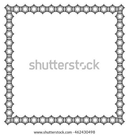 Decorative vintage frame. Border pattern vector