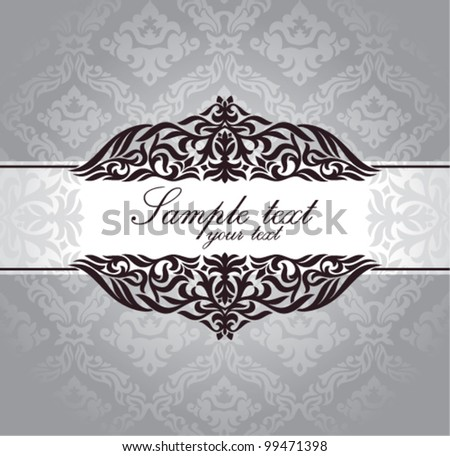 Decorative vintage frame. Great for greeting card and invitation card. - stock vector