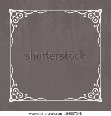 Decorative vintage frame silhouette with separated corners. You can easily change color and aspect ratio of frame. The file is made with no transparencies and gradients. - stock vector