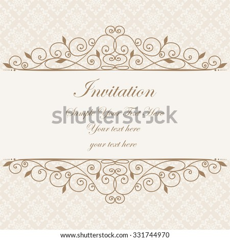Decorative vintage frame swirl divider header stock photo photo swirl divider and header beautiful floral greeting card elegant invitation stopboris Image collections