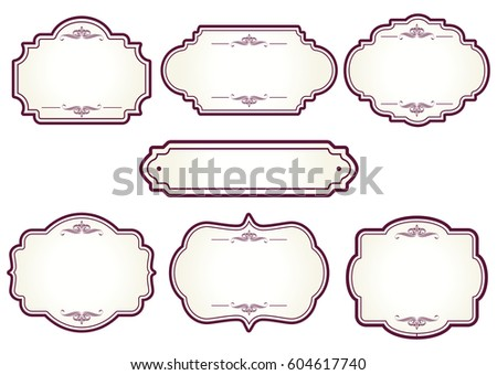 Decorative Vintage Graphic Frames Borders Set Stock Photo (Photo ...