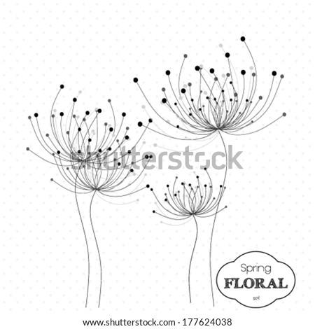 Decorative vintage, spring floral background   - stock vector