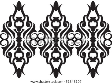 Decorative wallpaper design in shape