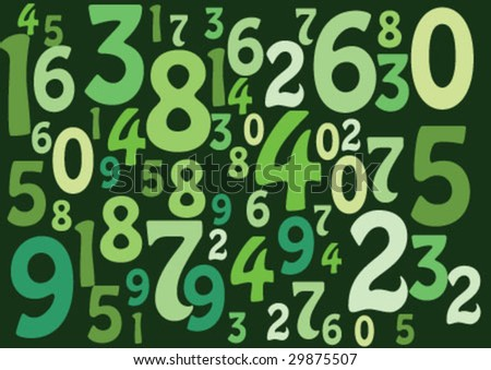 Decorative wallpaper design with numbers
