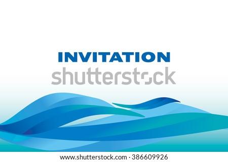 Deep calm water background vector illustration stock vector deep calm water background vector illustration for header card invitation background sea stopboris Images