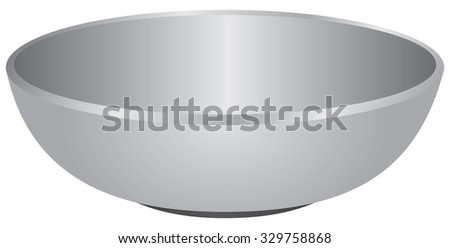 Deep ceramic utensils used for liquid food. Vector illustration. - stock vector