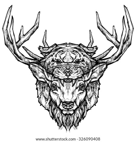 Cooked Deer Coloring Pages