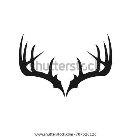 deer antlers logo design stock vector hd royalty free 787528126 rh shutterstock com  deer antler logo no watermark