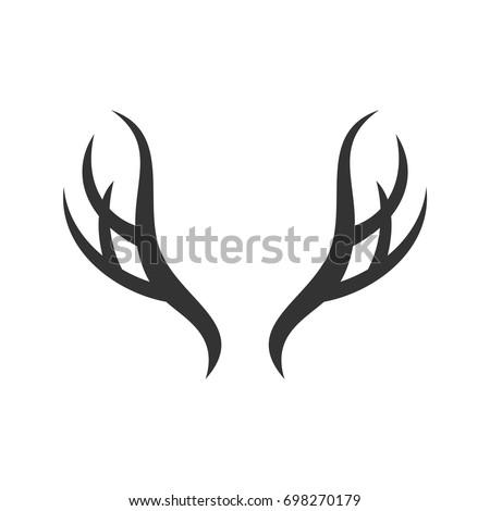 deer antlers logo template stock photo photo vector illustration rh shutterstock com deer antler light fittings uk deer antler lighting