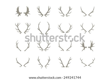 Deer antlers made in vector - stock vector