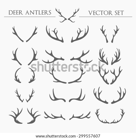 Antlers stock images royalty free images vectors for Rudolph antlers template