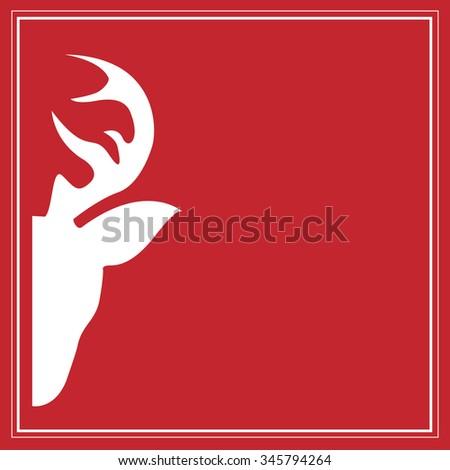 Deer head - stock vector