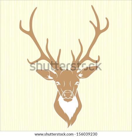 Deer head isolated - stock vector