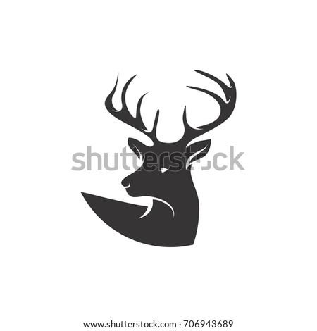 deer head logo stock vector 706943689 shutterstock rh shutterstock com deer head outline logo deer head logo clothing