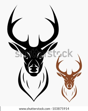 Deer head - vector illustration - stock vector