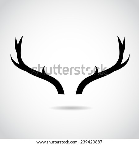 Deer horns icon isolated on white background. VECTOR illustration.