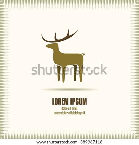 Deer Icon. Deer Symbol Vector. Deer Logo Template Object. Deer Icon Image. Deer Icon Graphic. Deer Icon EPS. - stock vector