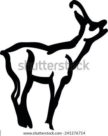 Deer Silhouettes - stock vector