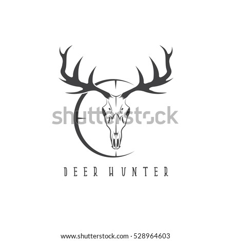 Deer Skull Logo on deer head decal
