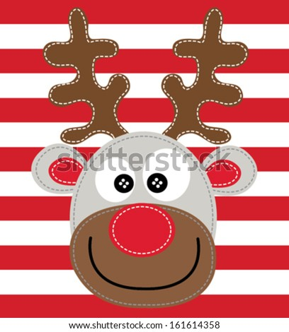 deer vector - stock vector