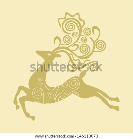 Deer vector illustration - stock vector