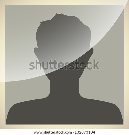 Default internet avatar in old photo frame style. - stock vector