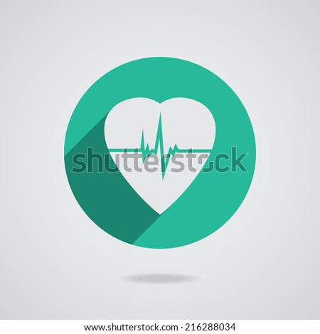 Defibrillator white heart icon isolated on teal background. Vector illustration EPS10 - stock vector