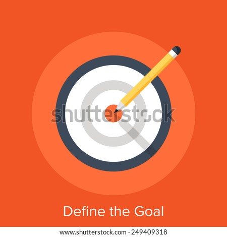 Define the Goal - stock vector