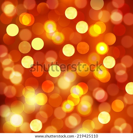 Defocused Christmas Background - Festival Bokeh Lights (EPS10 Vector) - stock vector