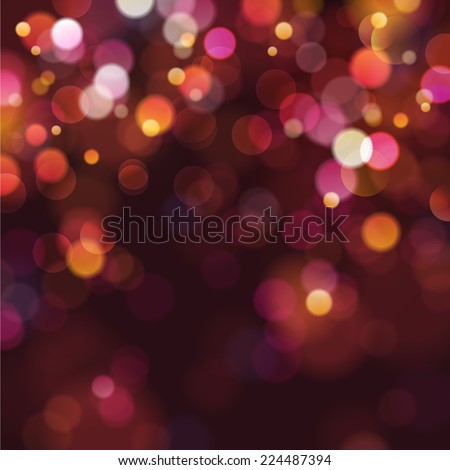 defocused christmas lights  - stock vector
