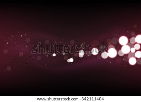 Defocused glitter lights background in dark red colors. - stock vector