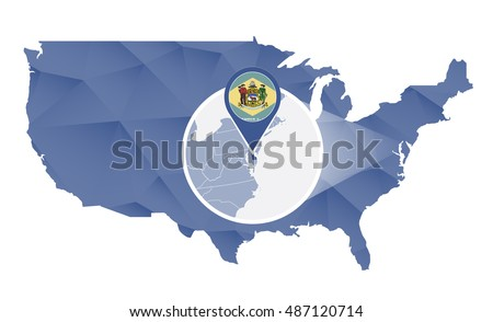 State Of Delaware Stock Photos RoyaltyFree Images Vectors - Us map delaware state