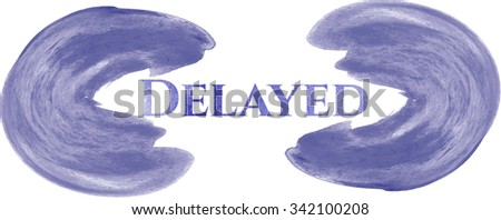 Delayed watercolor background - stock vector