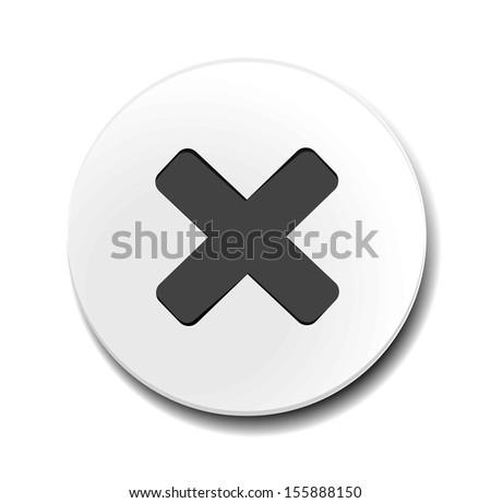 Delete icon - stock vector