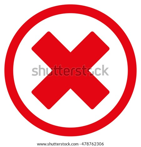 Delete X Cross Vector Rounded Icon Image Stock Vector Royalty Free