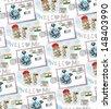 Delhi postcard. vector pattern - stock vector