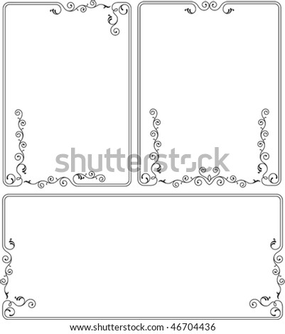 Delicate Border, Frame design - stock vector