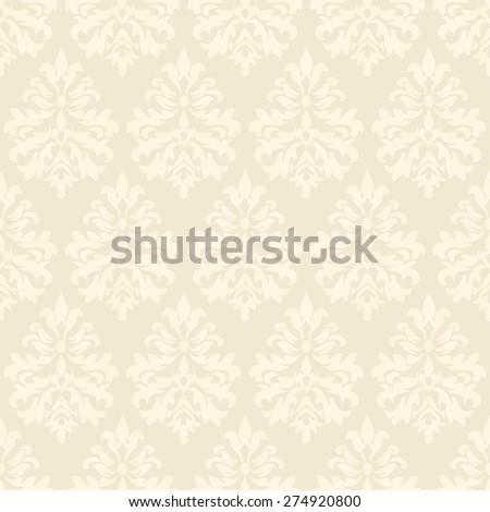 Delicate damask wallpaper. Vintage pattern. Seamless vector background. - stock vector