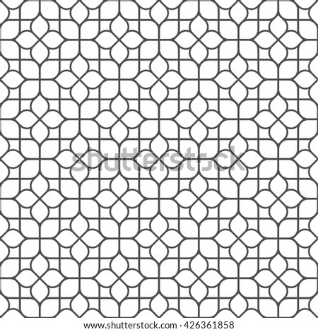Delicate elegant seamless flower pattern in oriental style. Vector background