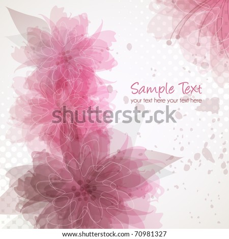 Delicate floral background, vector illustration
