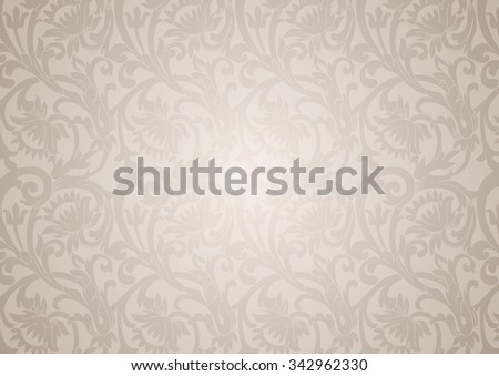 Delicate floral ornament with flowers and curls in a retro style - stock vector