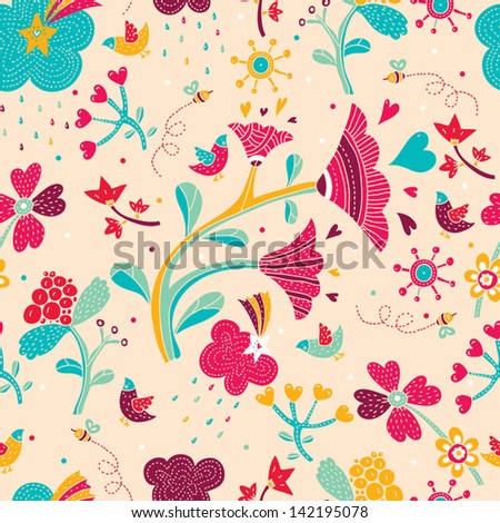 Delicate floral pattern. Vector.