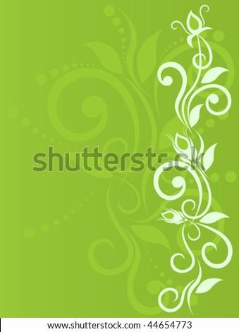 Delicate flower background with bud, primrose, floral element for design. Vector illustration - stock vector