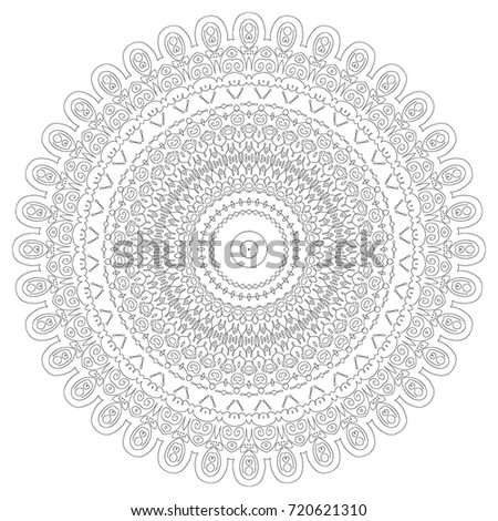 Vector Mandala Pattern Lace Circle Template Stock Vector 198045647