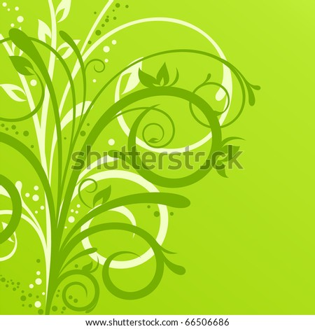Delicate spring background with beautiful floral design - stock vector