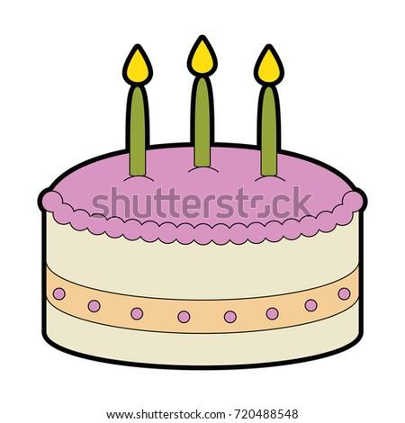 Cartoon Cake Stock Vector 51440005 Shutterstock