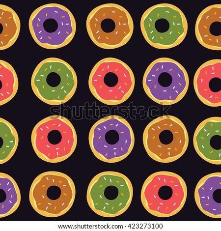 delicious donut food theme vector art illustration - stock vector