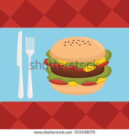 Delicious fast food graphic design, vector illustration eps10 - stock vector