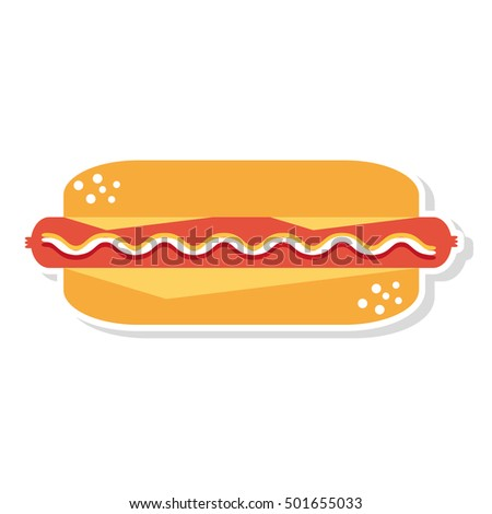 delicious hot dog isolated icon vector illustration design